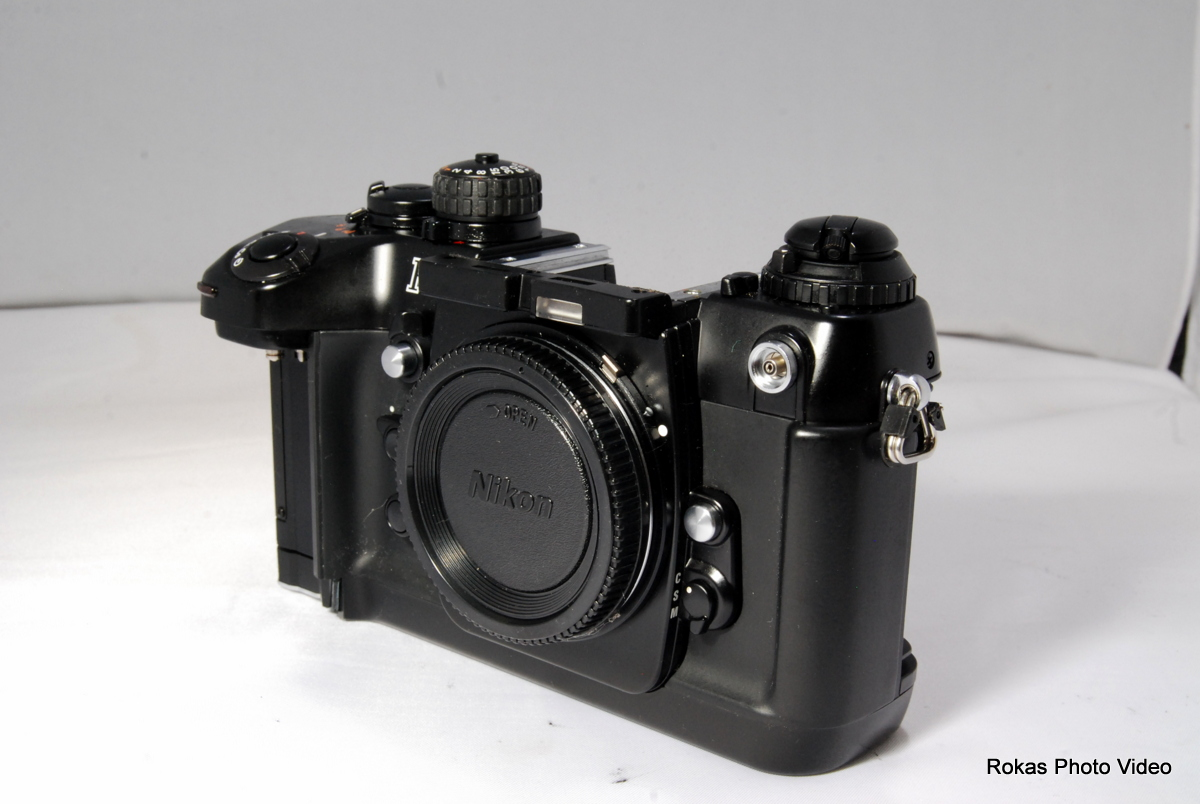 Nikon Slr Film Camera Body Only F4 For Parts Or Repair